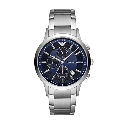 Emporio Armani Herren Chronograph Quarz Uhr mit Edelstahl Armband AR11164