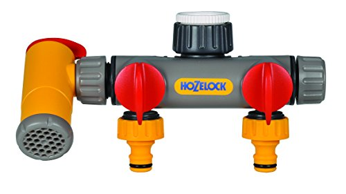 Hozelock Conector Dos vías Flowmax 2250 0000-Conector, Amarillo, 0.80x21.0x19.5 cm