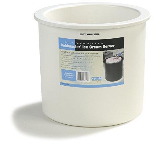 Carlisle CM101202 Coldmaster Insulated Ice Cream Server and Lid, 3 Gallon Capacity, White