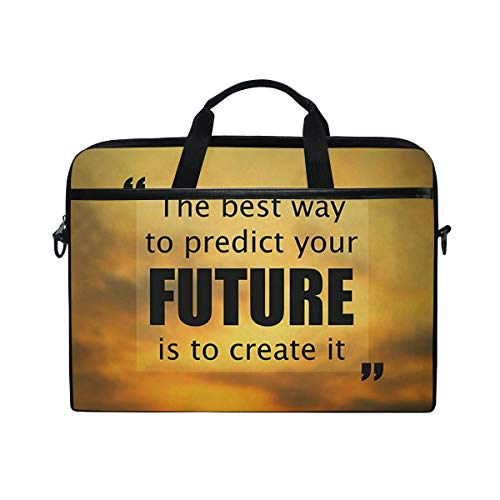 "Laptop Bag The Best Way to Predict Future is Create It 14"" 15"" Laptop Case Notebook Briefcase Tablet Handbag Sleeve Computer Backpack for Men Women Travel Business School"
