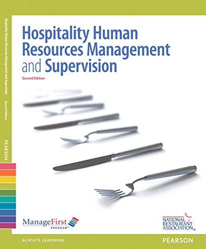 ManageFirst: Hospitality Human Resources Management & Supervision w/ Answer Sheet