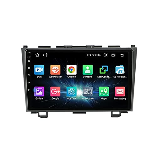 MGYQ 9 Inch HD Touch Screen Car Stereo Radio Multimedia Entertainment Player with WIFI/Bluetooth/GPS Navigation/FM Radio Support 1080P Video/USB, for Honda CRV 2007-2011,Octa core,4G WiFi 4+64