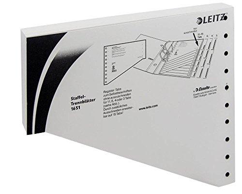 Staffel-Trennblätter 1651, 24x20,5cm, grau, Packung = 100 Stück