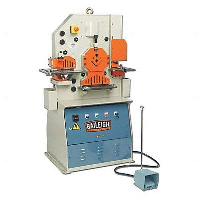 Best Price Baileigh SW-503 Steel Hydraulic Ironworker, 3-Phase 220V, 3hp Motor, 50 Ton Pressure