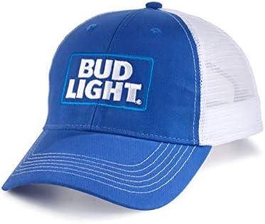 Bud Light Officially Licensed Stitched Logo Mesh Back Hat