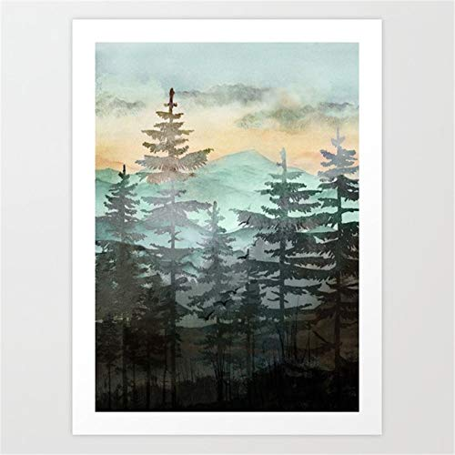 T-YIFUZX 5D DIY- Pine forest for Adults Full Drill Diamond Painting Kits Crystal Rhinestone Embroidery Cross Stitch Arts Craft for Home Wall Decor