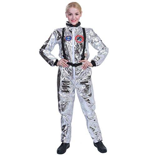 EraSpooky Damen Astronauten-Kostüm - Silber - Einheitsgröße