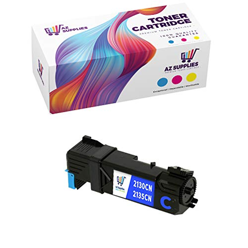 AZ Compatible Toner Cartridge Replacement for Dell 2130 (T107C) use in Color Laser 2130CN Color Laser 2135CN (Cyan, 1-Pack)