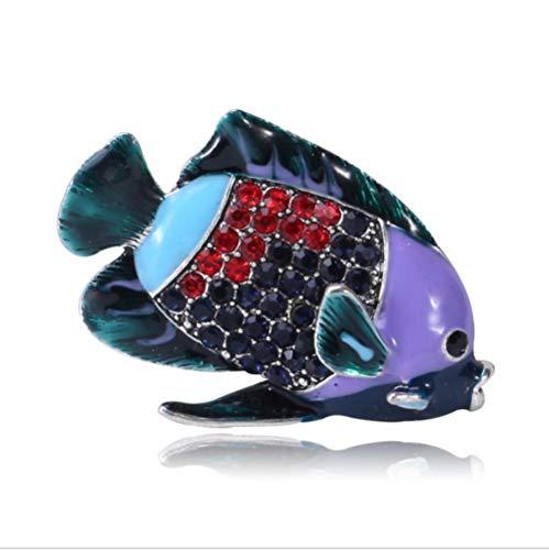 Nonebranded Geschenk Dekorative Pin Meeresfisch Strass Brosche Emaille Glasur Handwerk