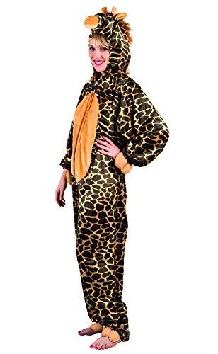 Boland Adultes Costume Girafe en Peluche, Einteiler avec Capuche Taille M/L