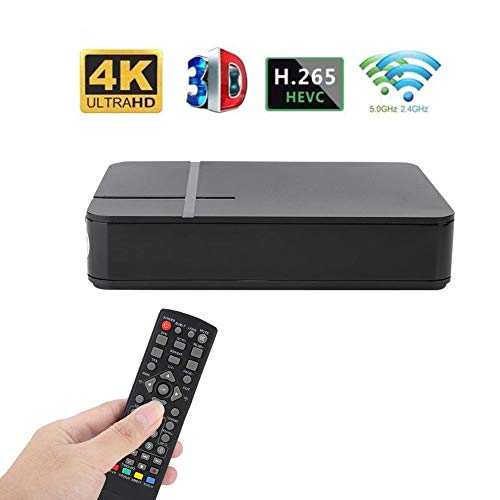 Digital TV Box Receiver, Mini HD DVB-T2 K2 WiFi Terrestrial Receiver, Digital TV Box with Remote Control 100-240V, 3D Interface and Sleep Timer+1000 Channels of Television(EEUU Plug)