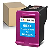ATOPolyjet Remanufactured 65XL 65 Ink Cartridge Replacement for HP 65 65XL Ink Work with HP Envy 5055 5052 5010 DeskJet 2622 3755 3735 2655 3752 2652 2624 3720 3752 2652 AMP 100 Printer (1 Color)