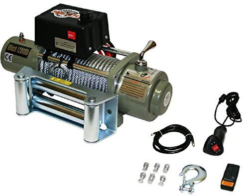 Varan Motors - var-sc12000lb elektrische seilwinde 12v 5443kg motorwinde winde forstwinde offroad quad atv
