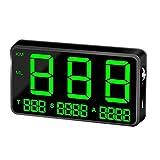 Dogggy - Cuentakilómetros GPS para coche, pantalla de 4,5 pulgadas, indicador de velocidad, alarma de velocidad, universal, para motocicleta, camión