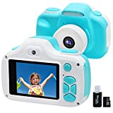 Kids Camera for Boys Gifts with 16GB TF Card, 12.0MP Selfie Video Digital Camera with Flash for Children 3-9 Years Old, Shockproof Mini Learning Toy Cameras for Boy Girl Birthday Travel Gifts (Blue)