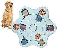 Twinstar ペット食器 ペットボウル 餌入れおもちゃ 嗅覚訓練 集中力向上 分離不安 運動不足 ストレス解消 ペットトレーニング パズルボウル 猫犬用 (ブルー-C)