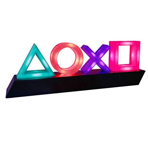 Xutu Nachtlicht, Playstation-Lampe, Spiel-Logo-Licht, Acryl, Stimmungslicht, Neonleisten-Lampe, Club, KTV, Spielezimmer, dekoratives Ornament