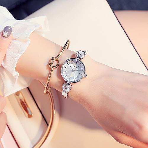 FSTMVV Reloj De Las Mujeres Ins Estilo Simple Temperamento Reloj Colegiala Versión Coreana Impermeable Cinturón Delgado Pequeño Temperamento