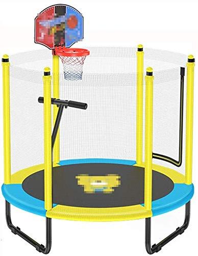 YYhkeby Trampolín Infantil, con Neta, Barra Horizontal y aro de Baloncesto, Adecuado para niños en Interiores para Jugar/rebotar/re Jialele (Color : B)