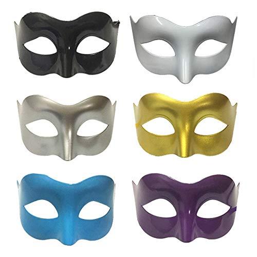 Mirrwin Antifaz Máscara de Mujeres para Halloween Decoración de Fiesta de Mardigras Máscara Mascarada de Pareja Máscara Halloween Mardi Gras Ball Party Máscaras Plástico Mascarada de 6 Piezas