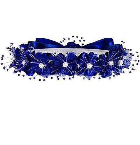 AMJ Dresses Inc Girls One Size Royal Blue Flower Girl Hair Wreath