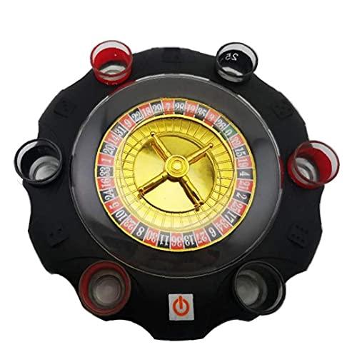 Juego De Beber Ruleta Eléctrica Spinning 6 Agujero del Partido De La Placa Giratoria Conjunto Entretenimiento Prop (sin Batería)