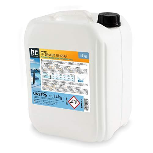 Höfer Chemie 2 x 14 kg pH Senker flüssig Senkung des pH Werts im Pool - pH Minus für Schwimmbad & Spa