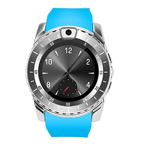 CSJD Smartwatch, smartphone-kaart, pluggable en geheugenkaart, bewaking van de slaap, calorieën, stappenteller, outdoor, waterdicht, Bluetooth, Android/iOS, blauw
