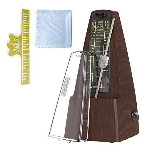 AUPHY Metronome Mechanical for Piano Drum Violin Guitar (Wood Grain)