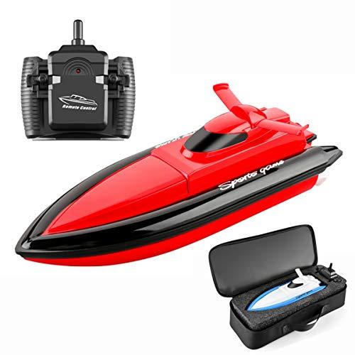 XIAOKEKE Barco Teledirigido, Barcos De Control Remoto Lancha Radiocontrol Electrico De 2.4...