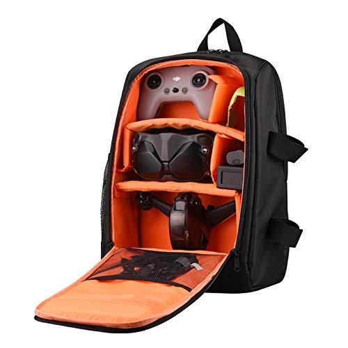 DJFEI FPV Combo Drone Tragetasche, wasserdichte Rucksack für DJI FPV Combo Drone, Schultertasche Portable Tasche Tragekoffer Bag für Batterien, Fernbedienung, Propeller, Ladegerät Zubehör (Orange)