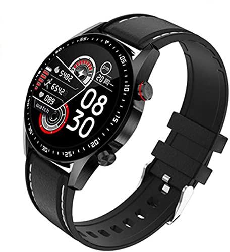 Reloj inteligente de los hombres de llamada Bluetooth de marcación personalizada pantalla táctil completa impermeable smartwatch para Android IOS deportes y fitness-B
