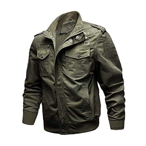 HaiDean herenjack herfst klassiek mode uniform mantel wassen katoen modern nonchalant bomberjack kaki zwart leger