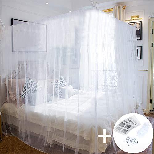 Faburo Mosquitero Cuadrados para Interior y Exterior, Color Blanco, 220 x 200 x 200 cm