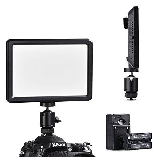 TYCKA Regulable 104 LED Luz de Vídeo Cámara, Ultra-Delgada, Panel de iluminación Regulable de luz contínua y progresiva de 16W, Profesional para cámara videocámara DSLR Nikon Sony ect
