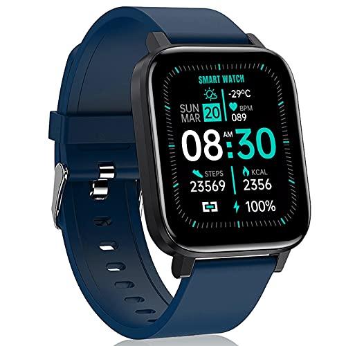 LIYIFANKJ Smart Watch Uomo Donna Smartwatch Fitness Tracker IP68 Impermeabile Orologio Sportivo Frequenza Cardiaca Ossigeno nel Sangue Compatibile con Android IOS