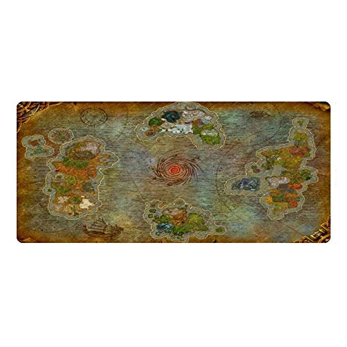 Gaming Mouse Pad World of Warcraft Wow Map Large Mouse Mat Game Keyboard Mat Cafe Mat Extended Mousepad for Computer Desktop PC Mouse Pad (Size : 7003003mm)