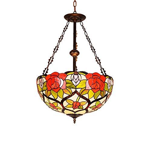 WEM Kronleuchter Eisen Barock Stil Glasmalerei Kunstlampe Innenbeleuchtung Werkzeug (keine Lichtquelle) 110V-240V