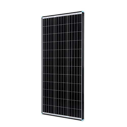 Renogy, Black Frame 100 Watt 12 Volt Monocrystalline Solar Panel, Sleek with High Efficiency Module PV Power, 100W