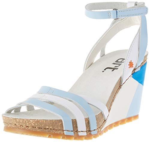 ART Güell, Sandali con Cinturino alla Caviglia Donna, Multicolore (Sky White), 36 EU