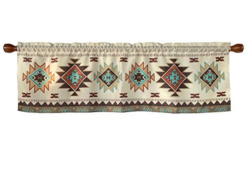 Country Hearts and Stars Window Curtain Valance Rod Pocket 58 X 18 Inches