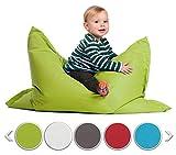 sunnypillow S Sitzsack, Outdoor & Indoor 100 x 70 cm mit 60L Styropor Füllung Sessel...