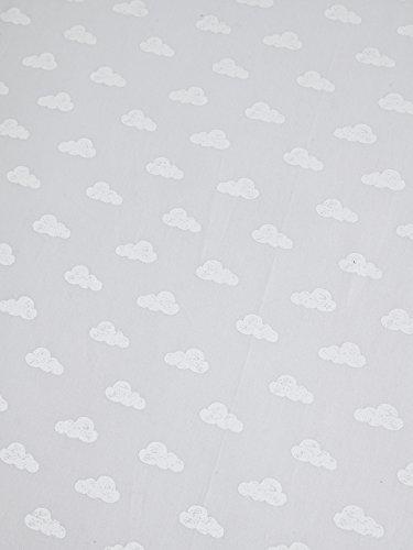 Vertbaudet Drap-Housse bébé Nuage DE Reve Gris/Blanc 70x140