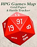 RPG Games Map Grid Paper & Battle Tracker: Large Blank 1' Square Graph Paper RPG Notebook with Stat Tracker Pages. Great Gift For Beginners or Advanced Players.