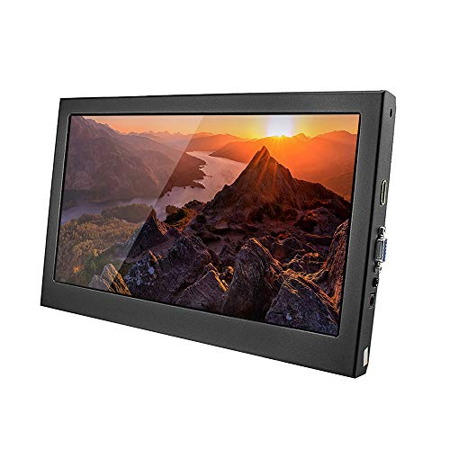 Docooler Bildschirm Tragbarer 11,6-Zoll-HD EU-Stecker Kompatibel mit PS3/PS4/Xbox360/Raspberry Pi/Windows