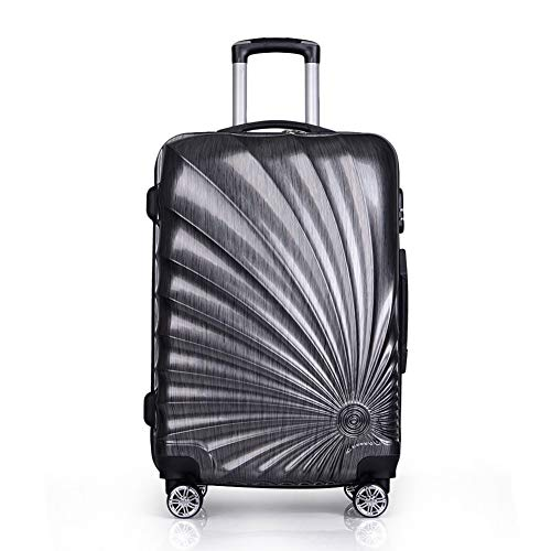 WODENINEK Hand Bagage Cabin Spiraal Patroon Abs+PC Harde Shell 20 '' 55 cm Universele Wiel Wear Resistant Vakantie Reizen Unisex Koffer