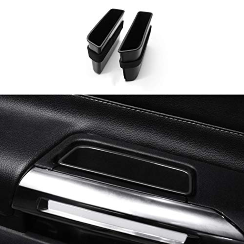 TopDall Door Side Storage Box Handle Pocket Armrest Phone Container accessories Compatible for Ford Mustang 2015-2021