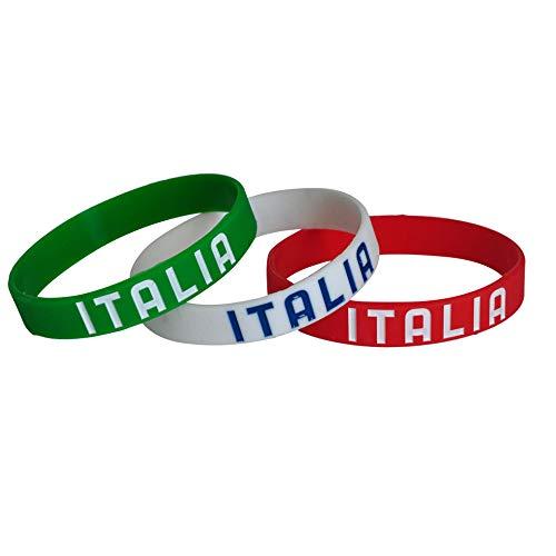 OFFICIAL PRODUCT FIGC Nazionale Italiana Europei Mondiale Set Braccialetti in Silicone Bambino E Adulto (Adulto)