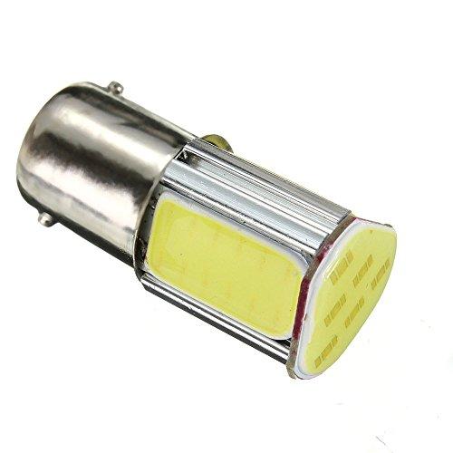 Hemore Accessoires de Voiture Blanc 1156 G18 Ba15s 4 COB LED 5W Lampe Arrière Clignotante de Voiture de DC 12V Blanche LUMIèRE