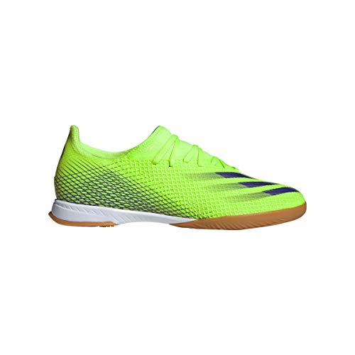 adidas X Ghosted.3 IN, Zapatilla de fútbol Sala, Signal Green-Energy Ink-Signal Green, Talla 6.5 UK (40 EU)